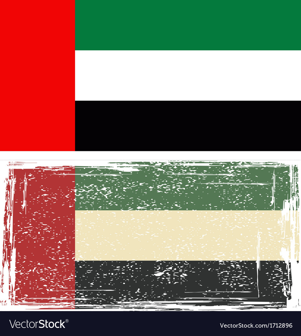 United arab emirates grunge flag vector | Price: 1 Credit (USD $1)