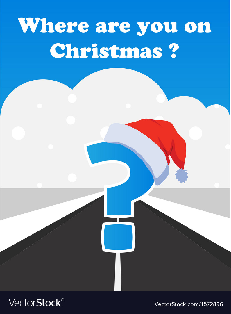 Where will you spend your christmas vector | Price: 1 Credit (USD $1)