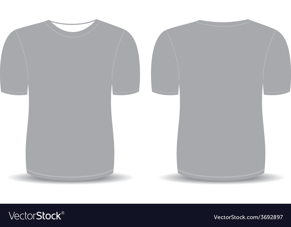 Blank t shirt gray template vector | Price: 1 Credit (USD $1)