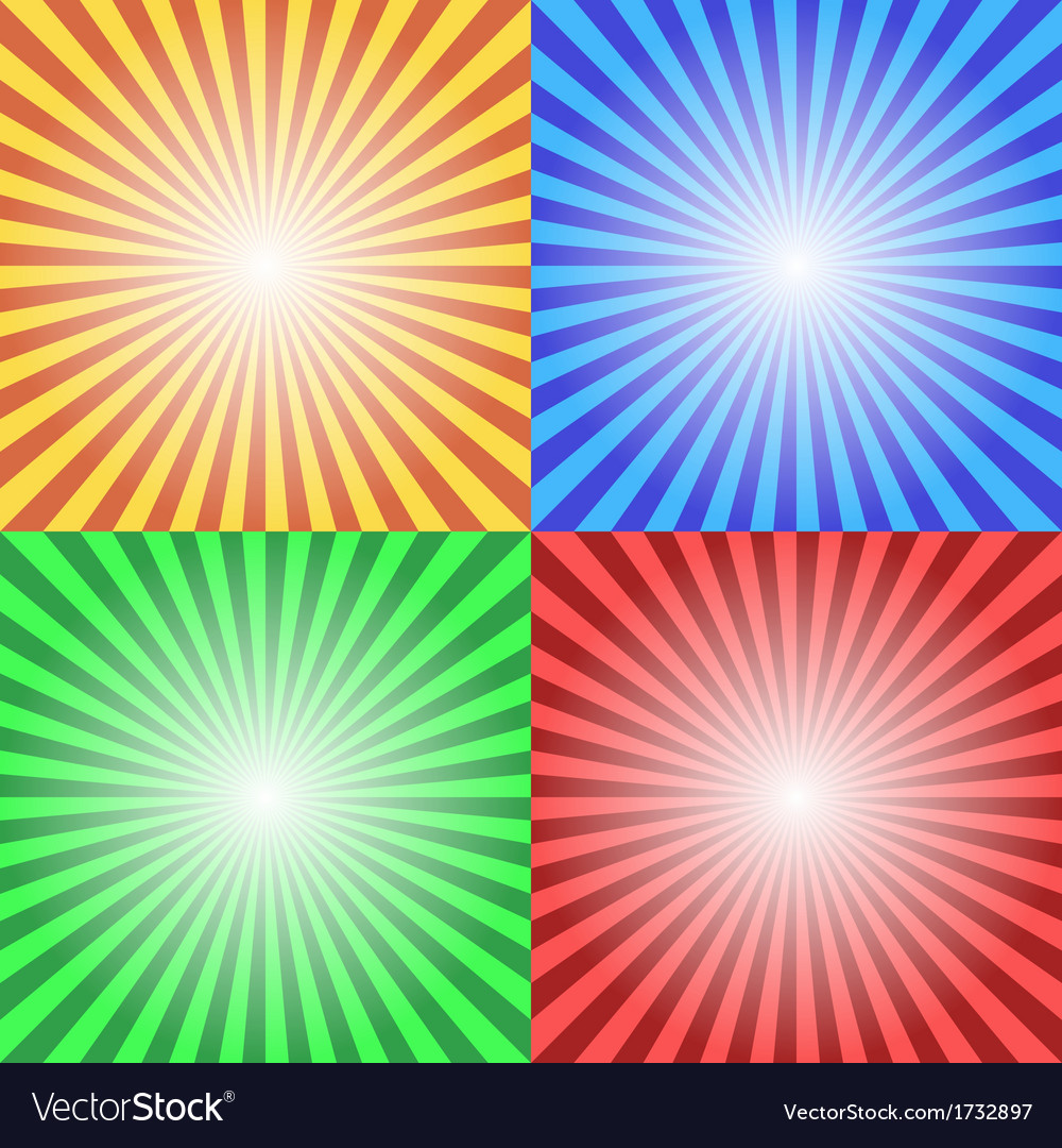 Color sun sunburst background vector | Price: 1 Credit (USD $1)