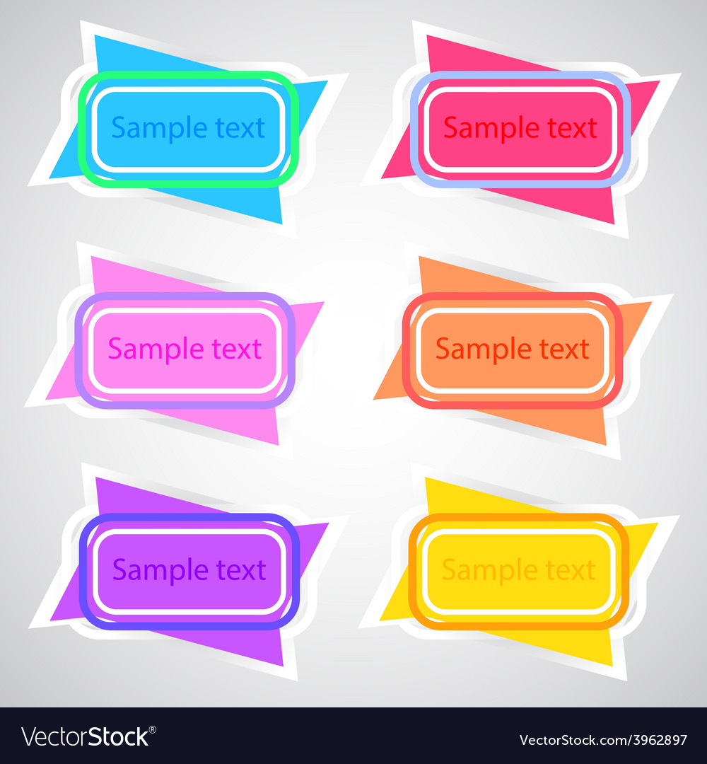 Colored banners 3 vector | Price: 1 Credit (USD $1)