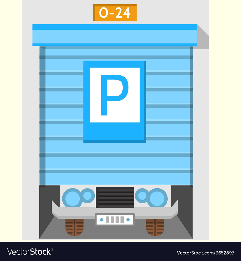 Colored flat icon for parking gate vector | Price: 1 Credit (USD $1)