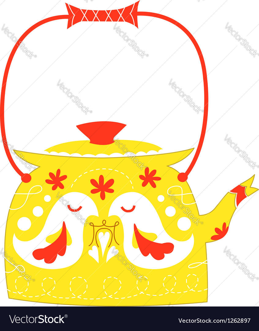 Cute kettle vector | Price: 1 Credit (USD $1)