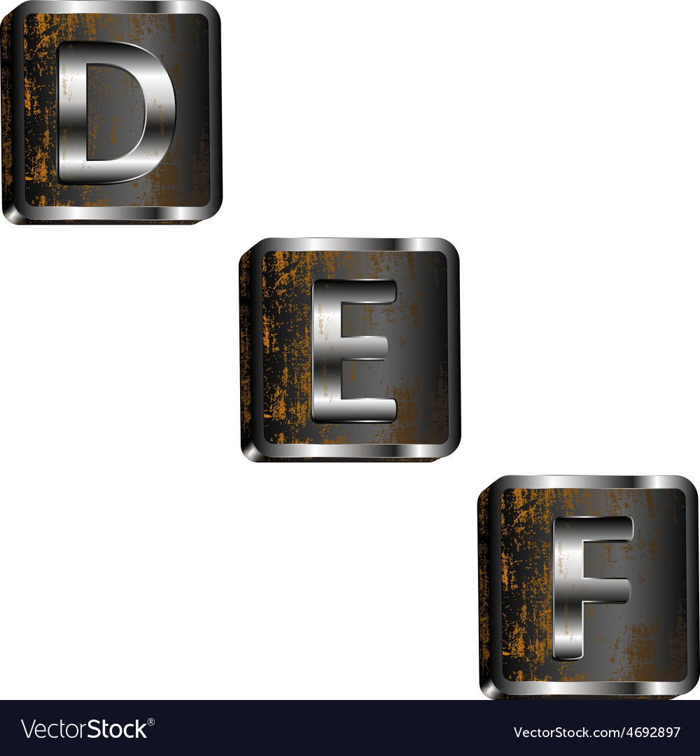 Def iron letters vector | Price: 1 Credit (USD $1)