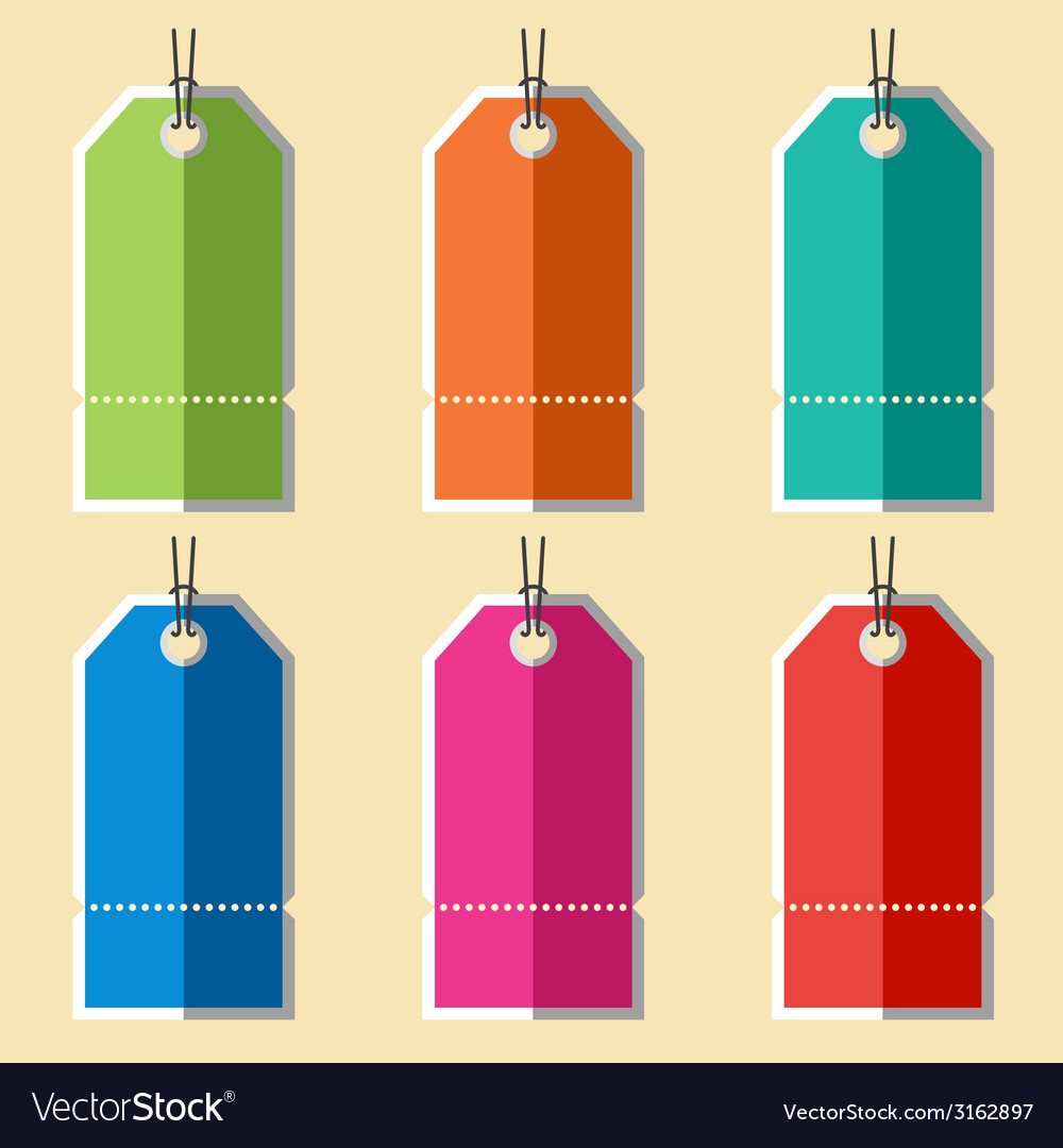 Flat blank badges labels vector | Price: 1 Credit (USD $1)