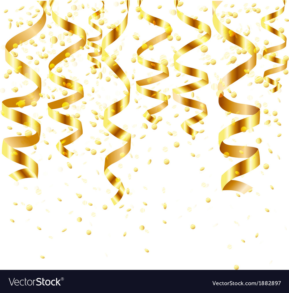 Gold curling stream vector | Price: 1 Credit (USD $1)
