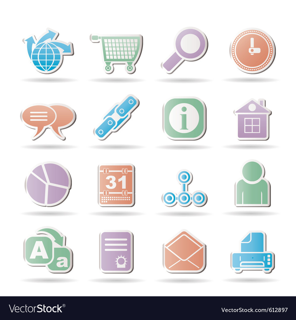 Internet and navigation icons vector | Price: 1 Credit (USD $1)