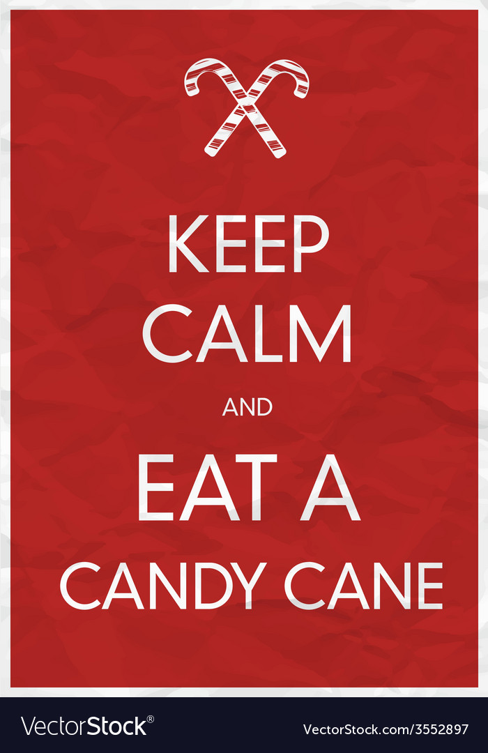 Keep calm an eat a candy cane vector | Price: 1 Credit (USD $1)