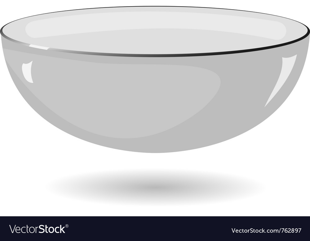 Metal bowl on a white background vector | Price: 1 Credit (USD $1)