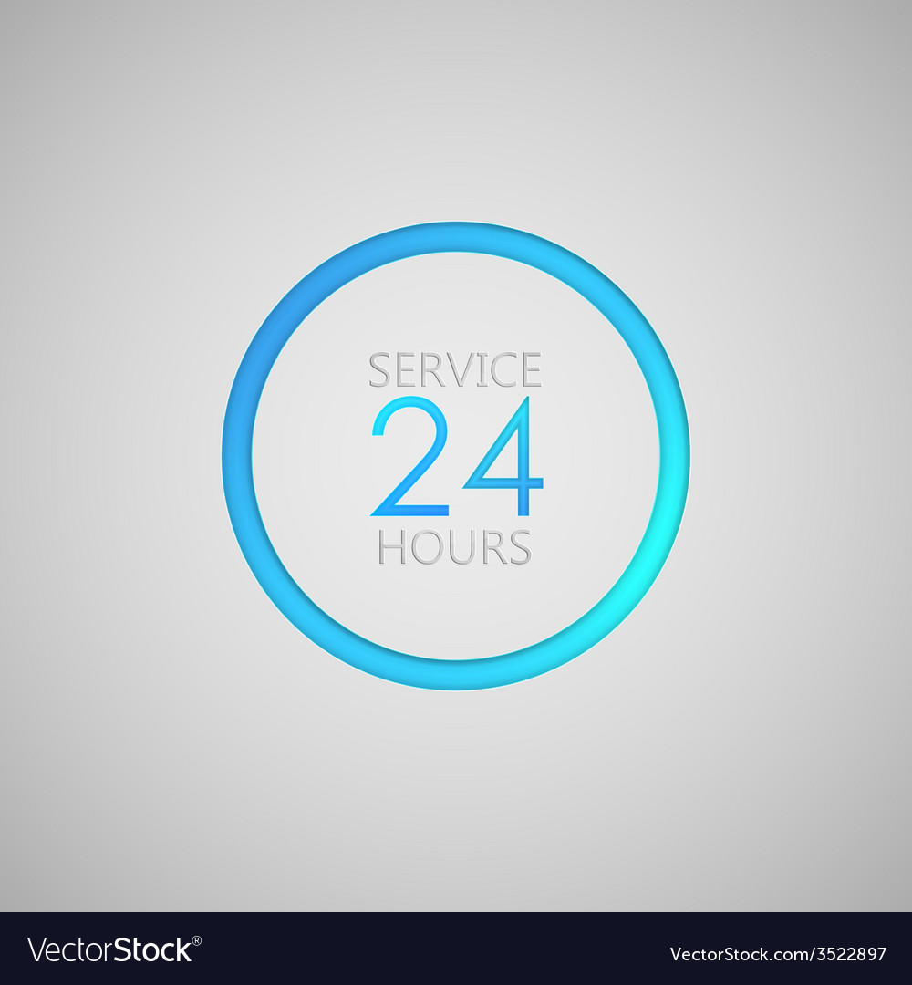 Open 24 hours a day icon service sign vector | Price: 1 Credit (USD $1)
