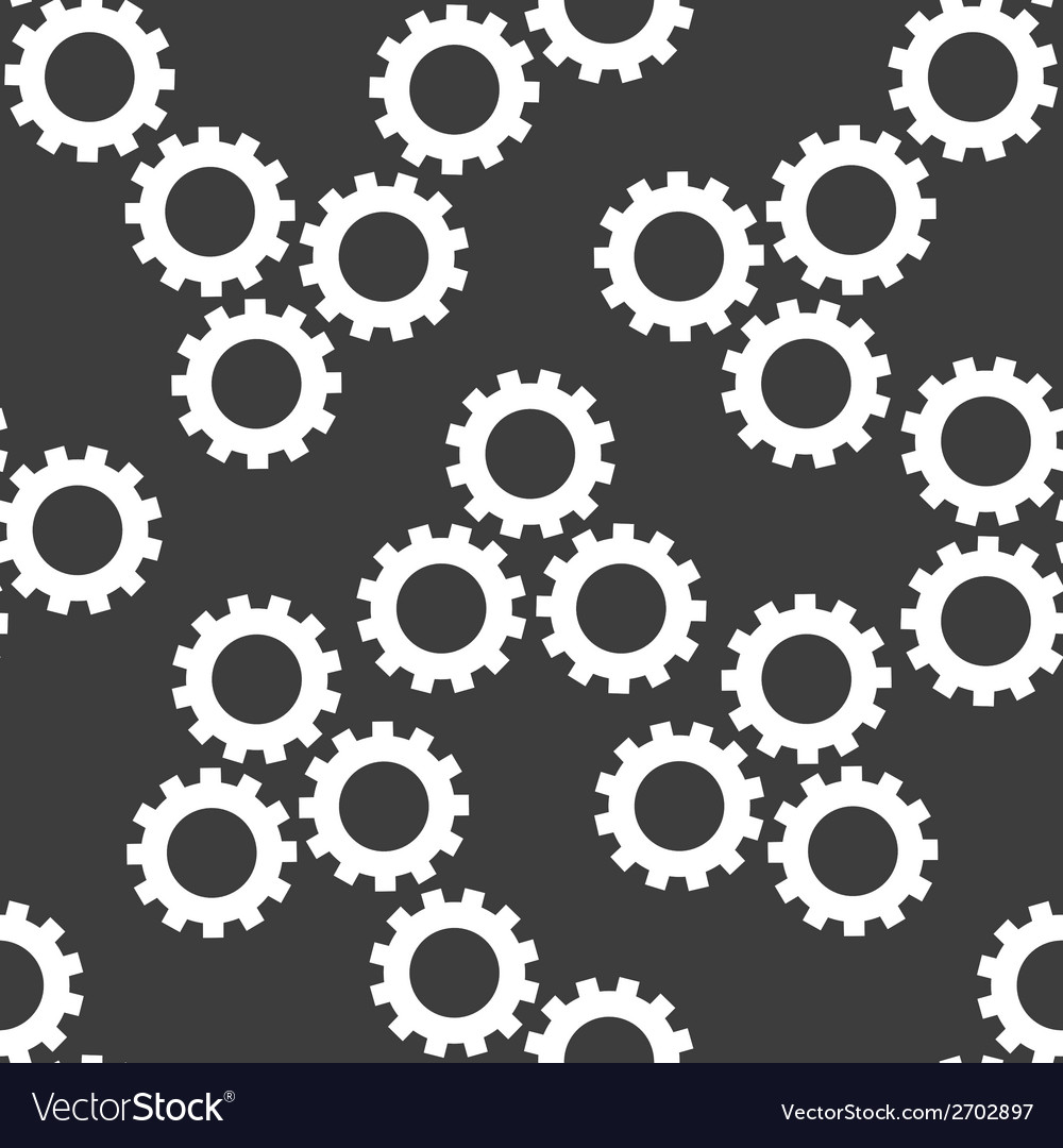 Settings sign web icon flat design seamless gray vector | Price: 1 Credit (USD $1)