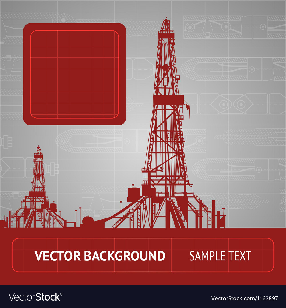 Sketch of oil rig vector | Price: 1 Credit (USD $1)