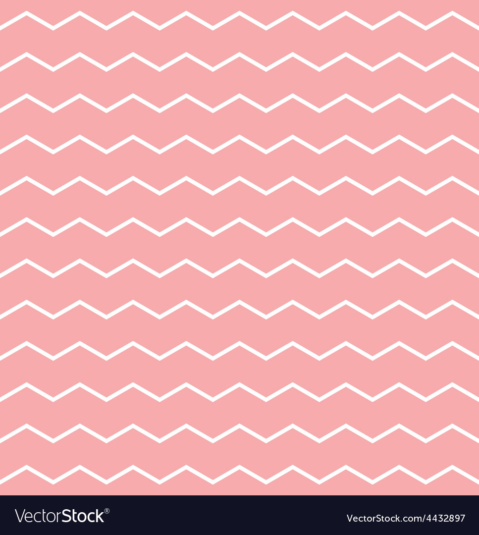 Tile pattern white zig zag on pink background vector | Price: 1 Credit (USD $1)