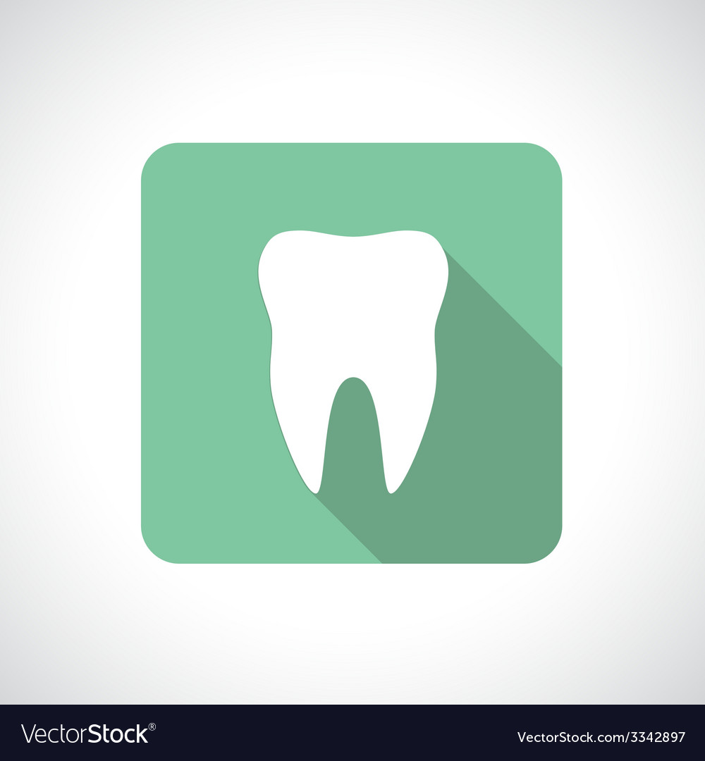 Tooth icon with shadow vector | Price: 1 Credit (USD $1)