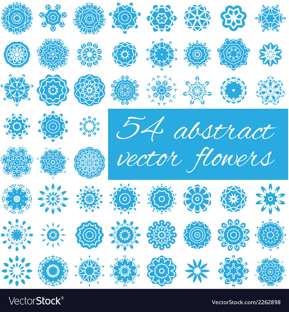 54 abstract flowers vector | Price: 1 Credit (USD $1)