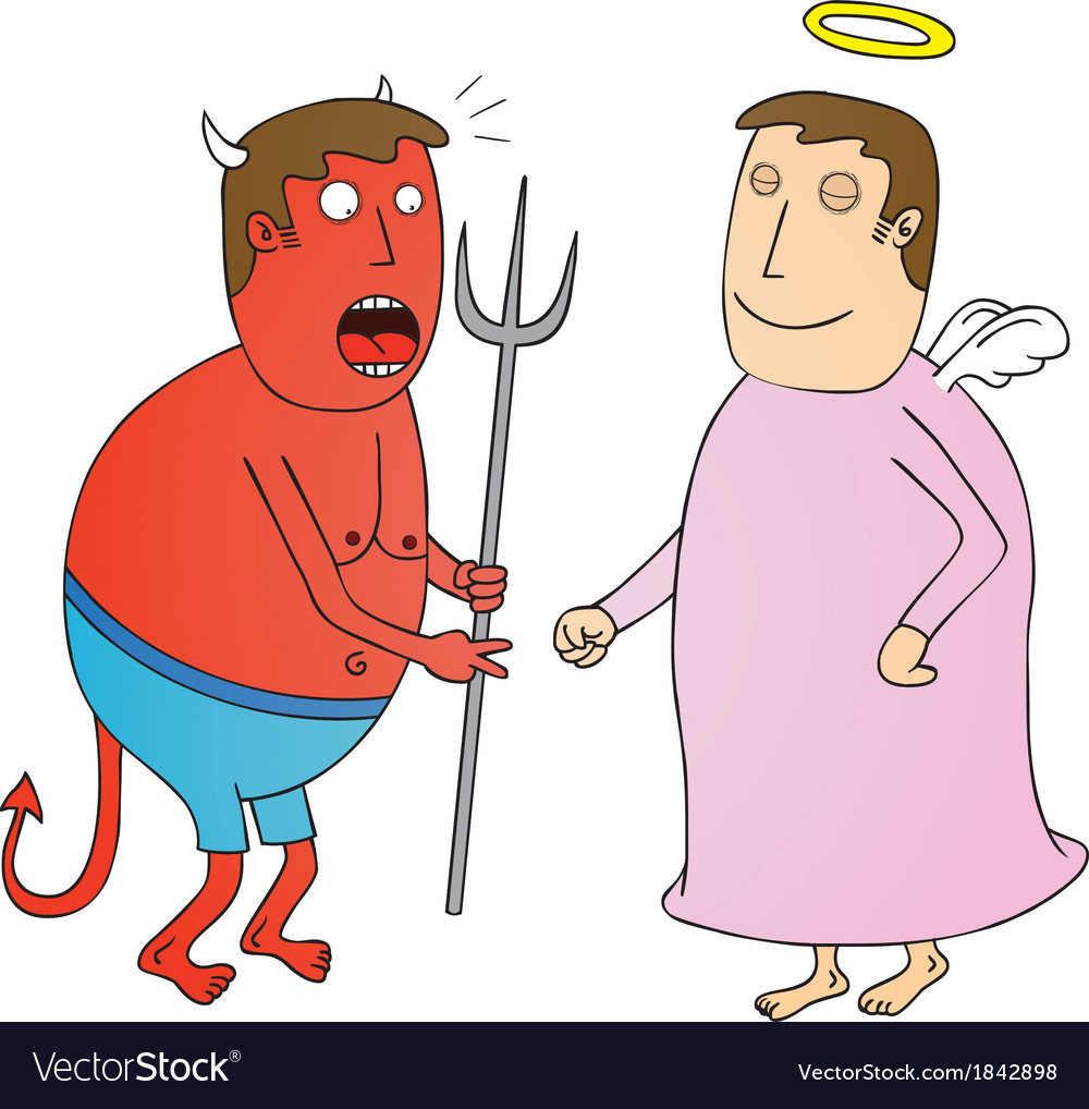 Angel vs devil vector | Price: 1 Credit (USD $1)