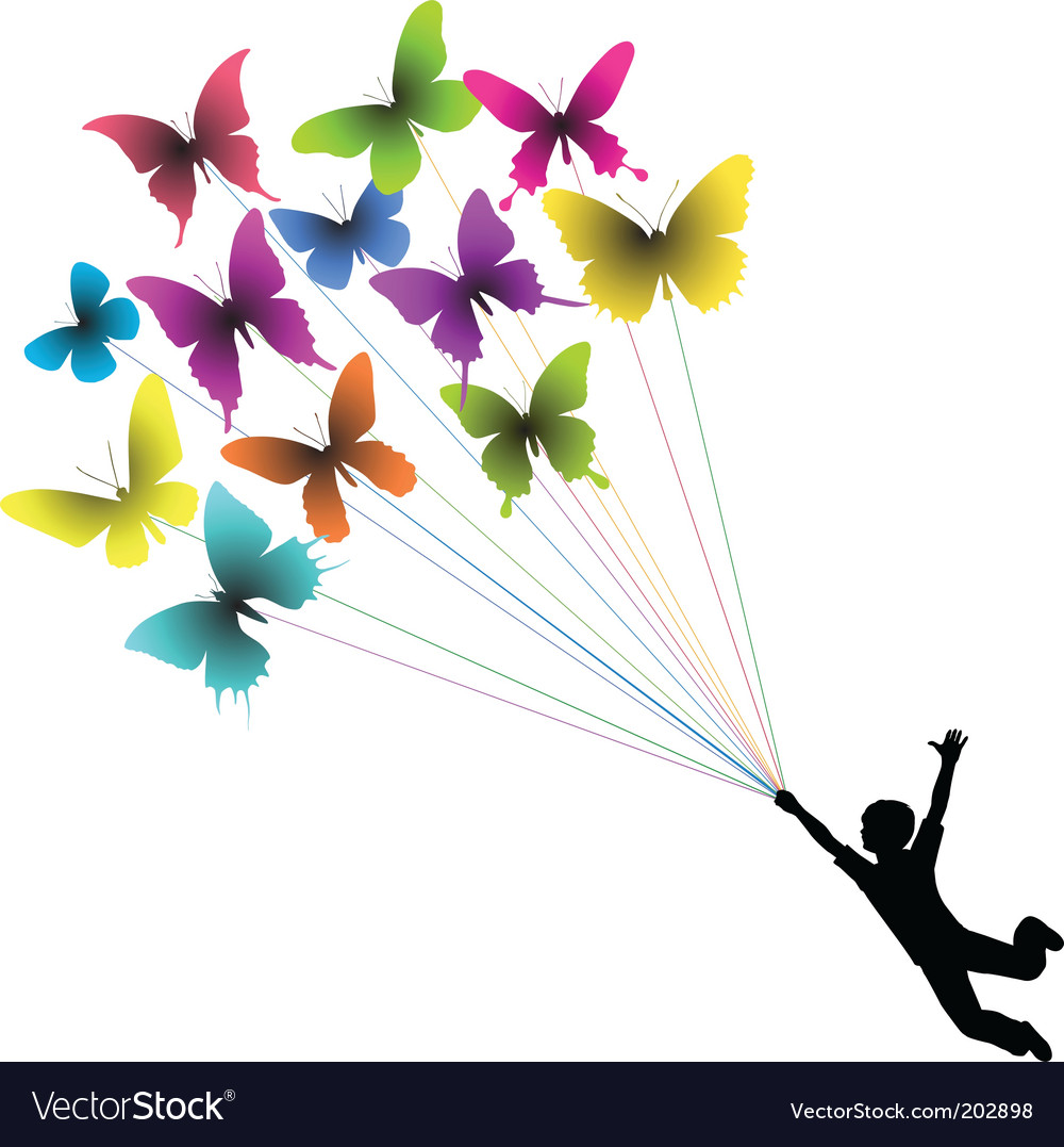 Butterfly boy vector | Price: 1 Credit (USD $1)