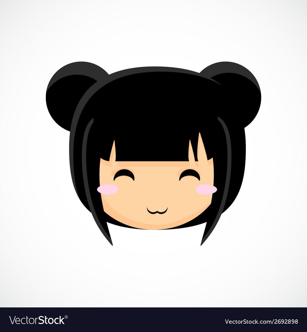 Face of a little cute girl  beautiful background vector | Price: 1 Credit (USD $1)