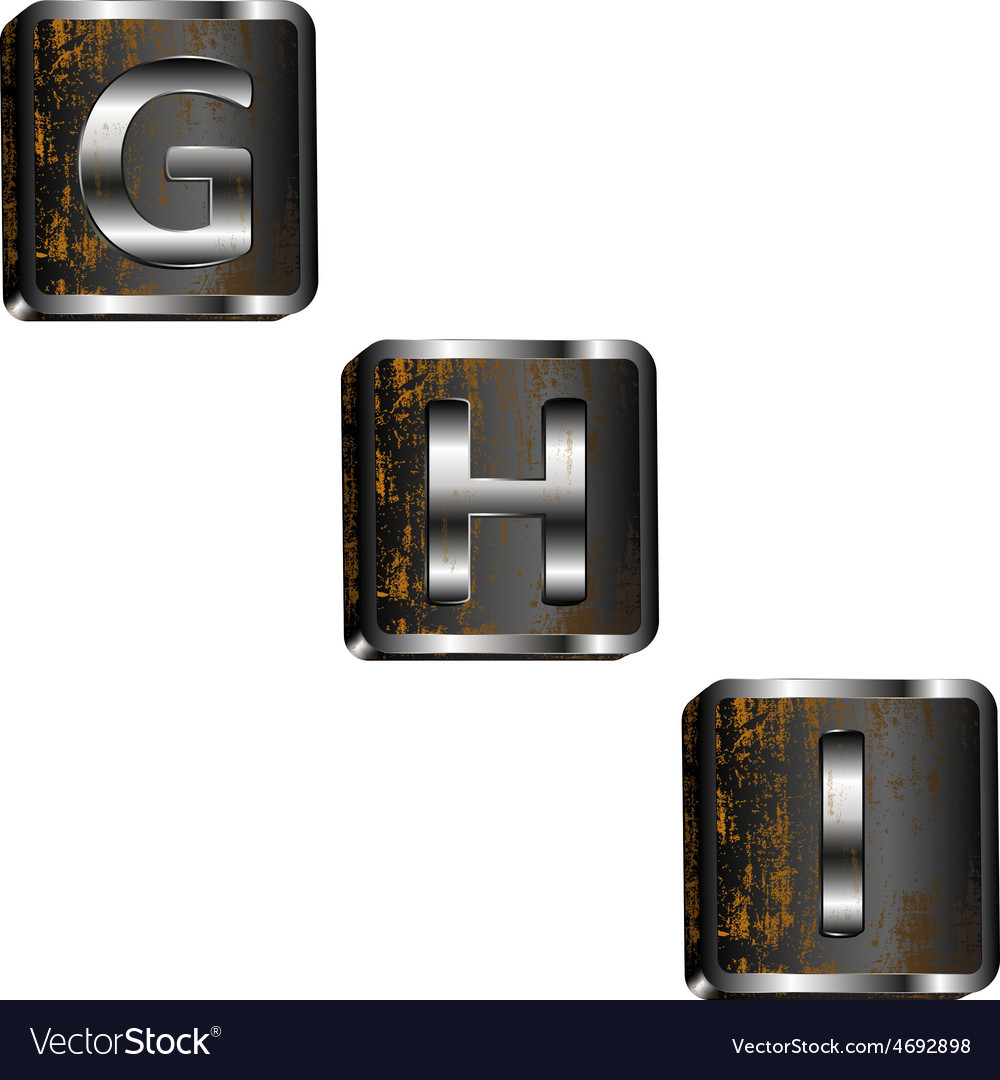 Ghi iron letters vector | Price: 1 Credit (USD $1)