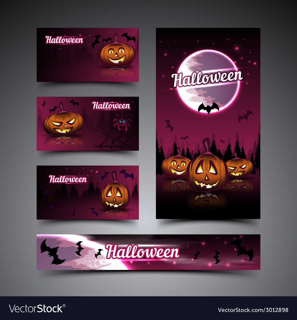 Halloween cards and banner vector | Price: 3 Credit (USD $3)