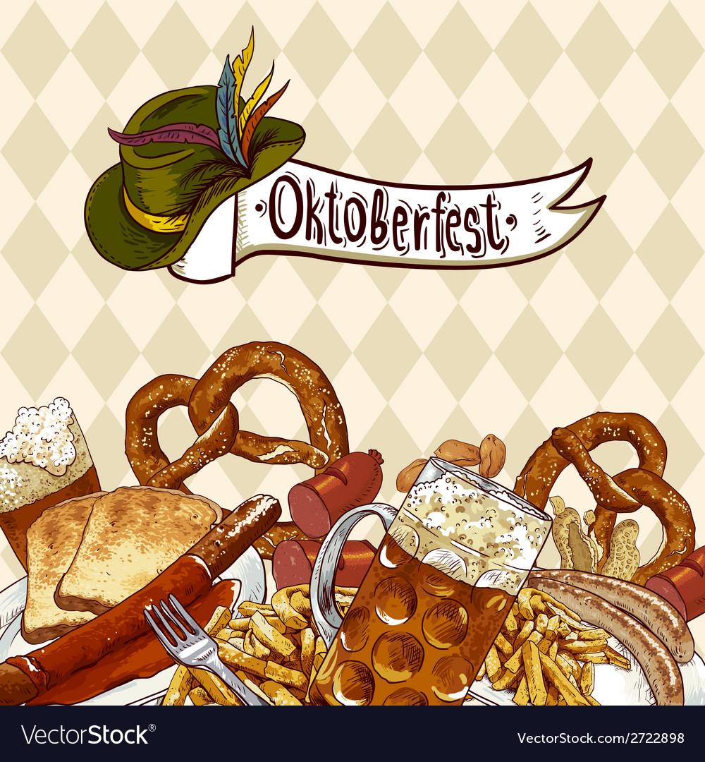 Oktoberfest celebration design with beer vector | Price: 1 Credit (USD $1)
