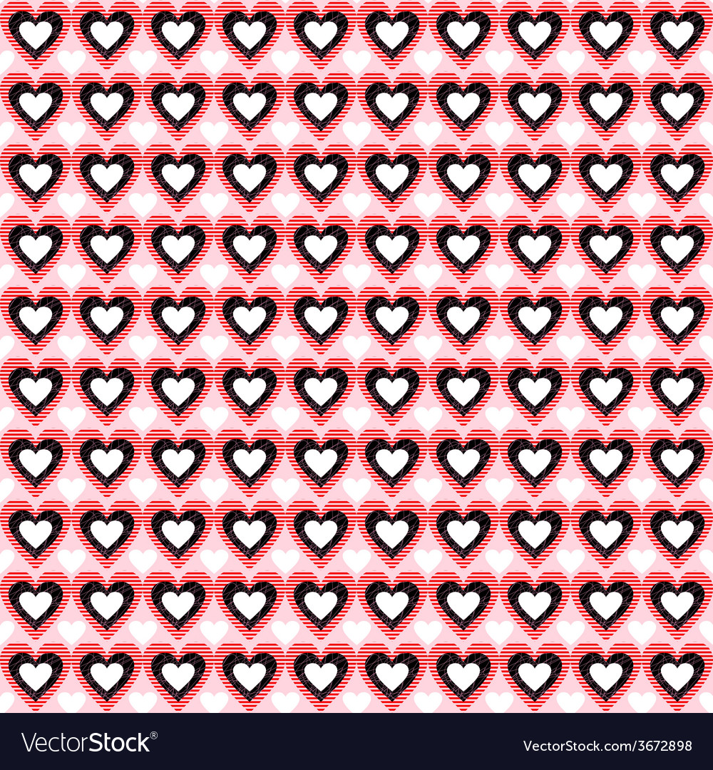 Seamless heart background pattern love vector | Price: 1 Credit (USD $1)