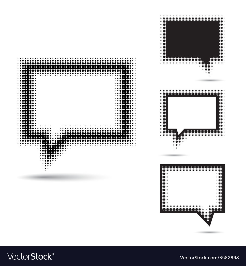 Set of abstract halftone design elements vector   Price: 1 Credit (USD $1)