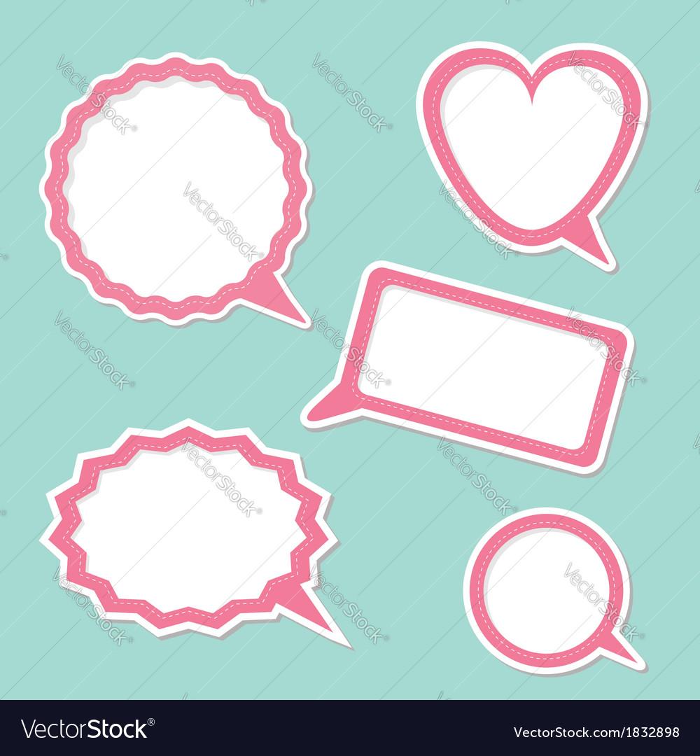 Speech bubble set design elements vector | Price: 1 Credit (USD $1)