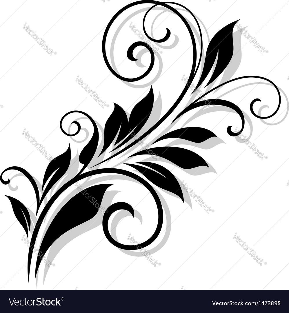 Vintage floral element vector   Price: 1 Credit (USD $1)