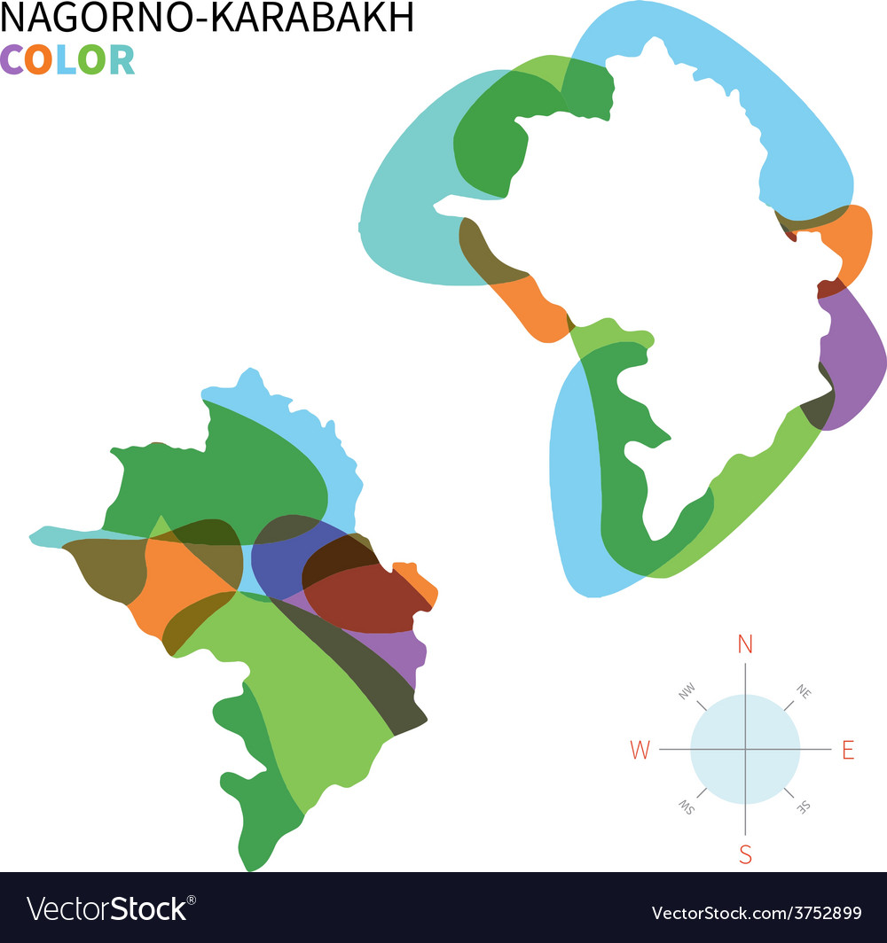 Abstract color map of nagorno-karabakh vector | Price: 1 Credit (USD $1)