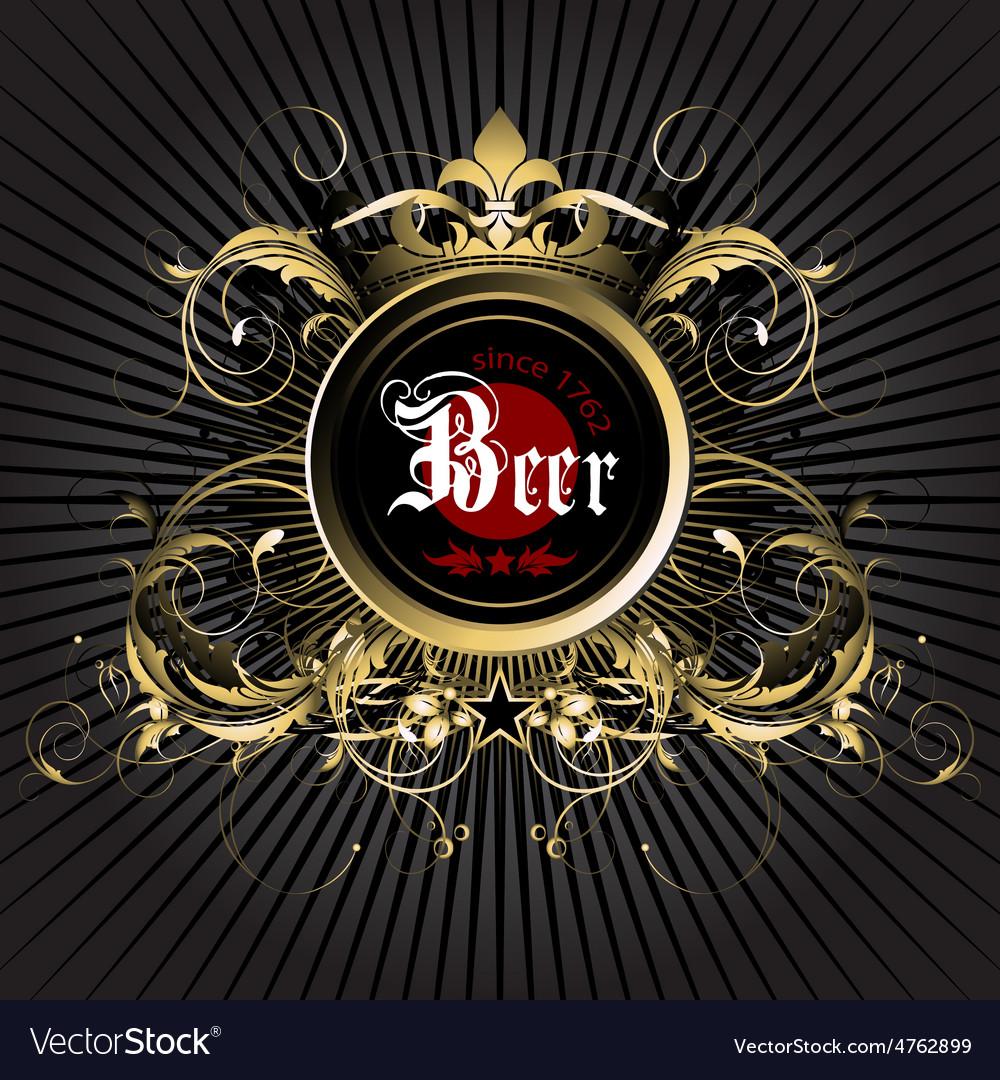 Beer background vector | Price: 3 Credit (USD $3)