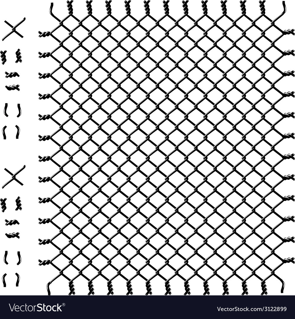 Black woven wire fence vector | Price: 1 Credit (USD $1)