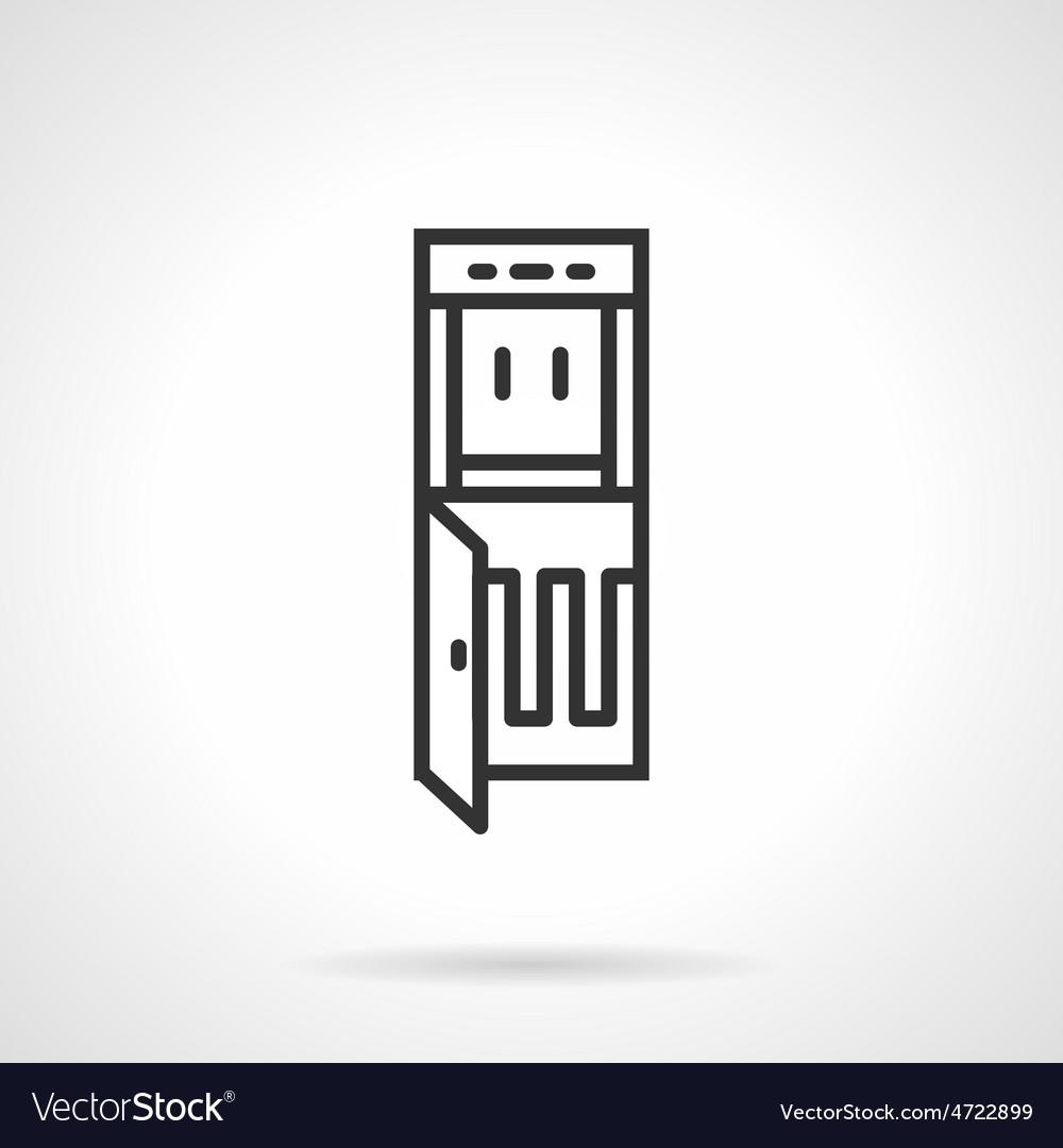 Cooler dispenser black line icon vector | Price: 1 Credit (USD $1)