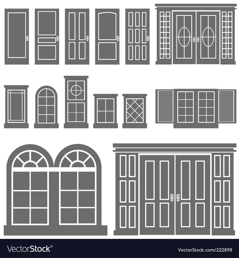 Door and window vector | Price: 1 Credit (USD $1)