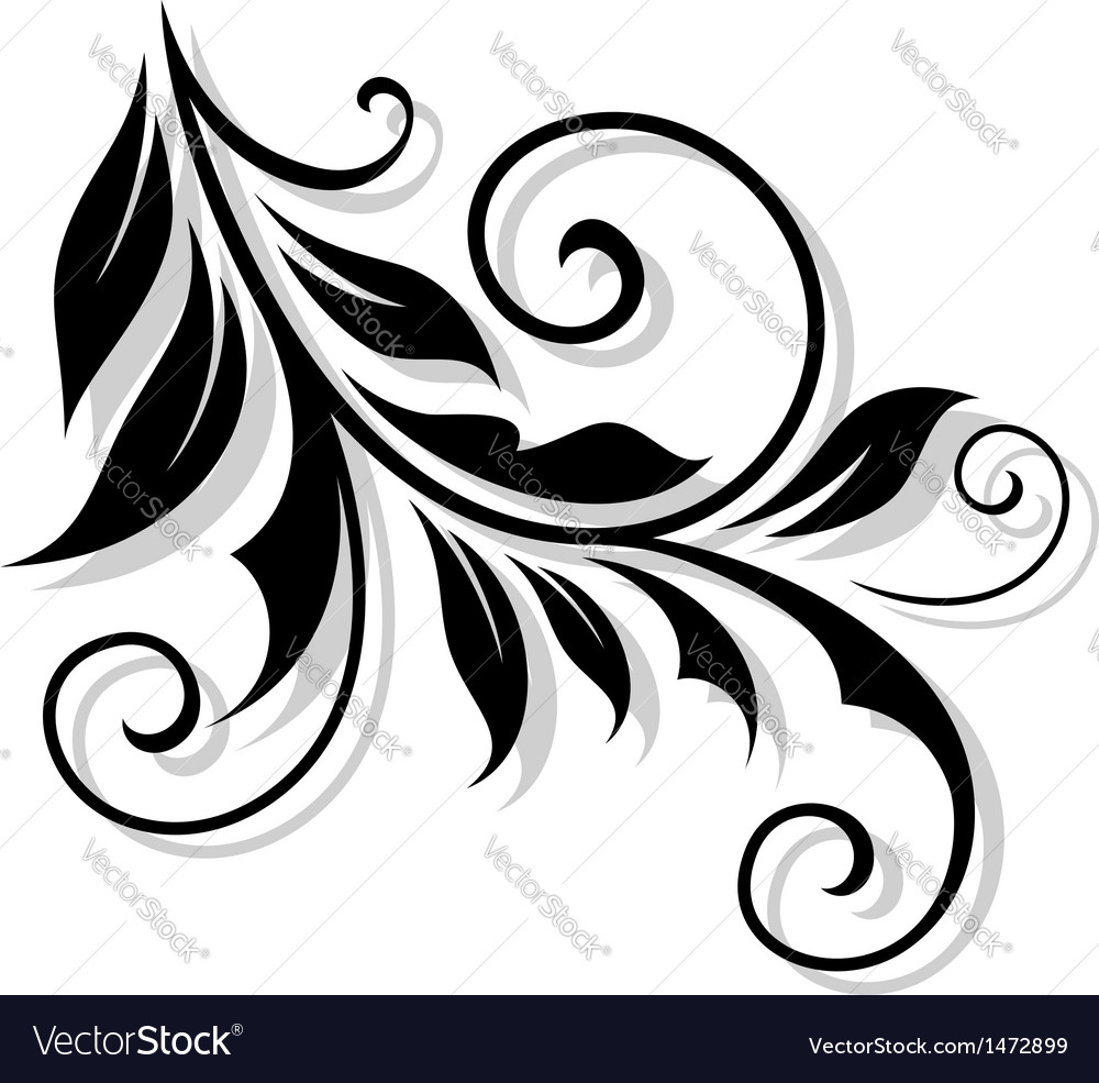 Floral embellishment vector   Price: 1 Credit (USD $1)