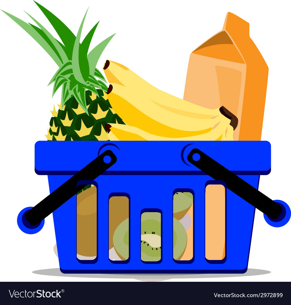 Full basket vector | Price: 1 Credit (USD $1)