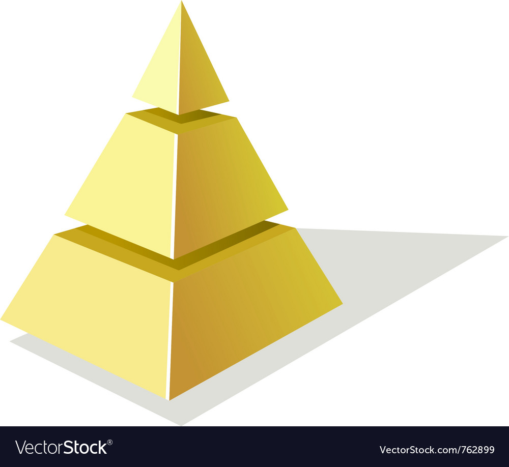 Golden pyramid vector | Price: 1 Credit (USD $1)