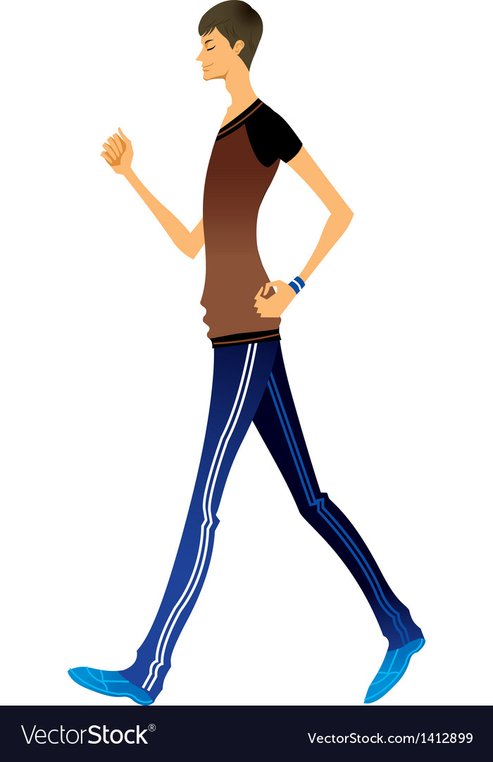 Side view of man walking vector | Price: 3 Credit (USD $3)