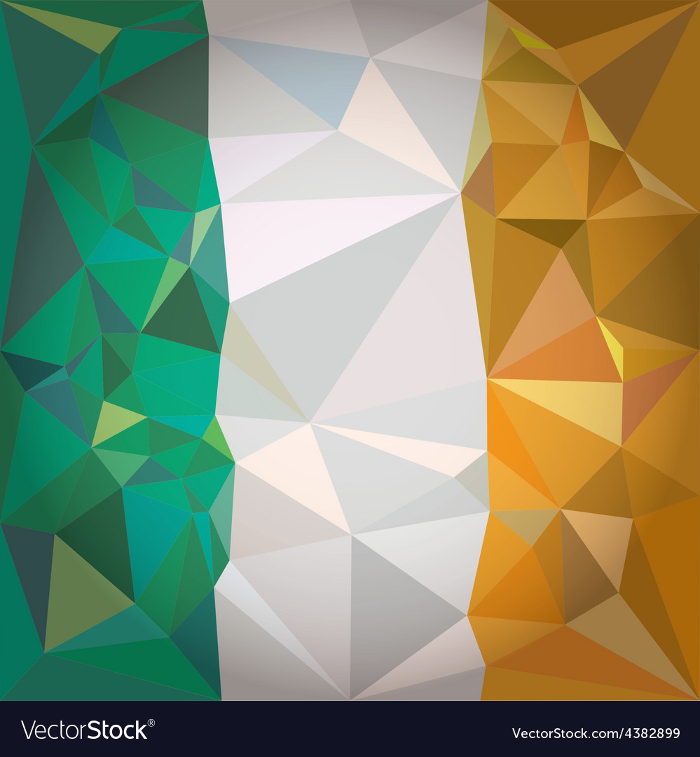 Stylized flag of ireland vector | Price: 1 Credit (USD $1)
