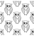 Cute little owl seamless pattern vector
