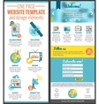 One page web site template vector