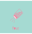 Salt shaker with hearts happy valentines day vector