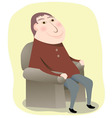 Man sitting in a chair vector