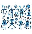 Robots icons set vector