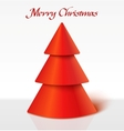 Red christmas tree vector