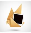 Polaroid origami dove vector