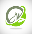 Leaf ecology spa logo vector