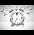 Ringing alarm clock vector