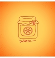 Orange jam doodle on color background vector