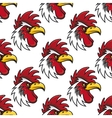 Rooster head seamless background pattern vector